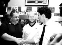Prime Minister Trudeau visits The Blue Star